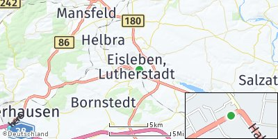 Google Map of Lutherstadt Eisleben
