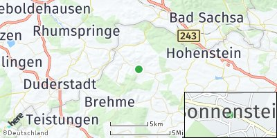 Google Map of Weißenborn-Lüderode