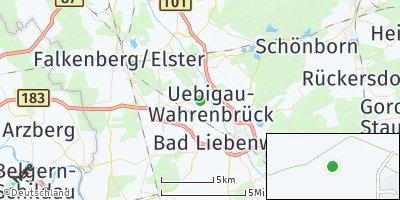 Google Map of Uebigau-Wahrenbrück