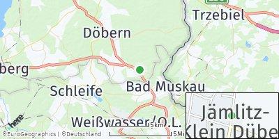 Google Map of Jämlitz-Klein Düben