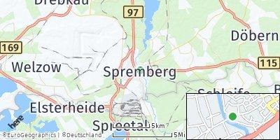 Google Map of Spremberg