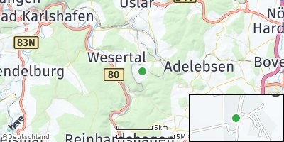 Google Map of Fürstenhagen