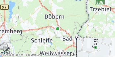 Google Map of Tschernitz