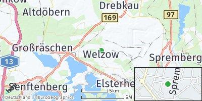 Google Map of Welzow