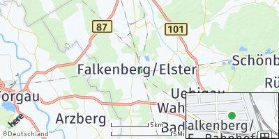 Google Map of Falkenberg / Elster