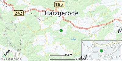 Google Map of Dankerode bei Quedlinburg
