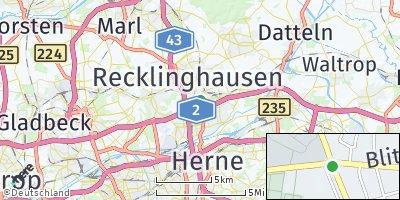 Google Map of Recklinghausen