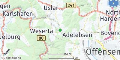 Google Map of Offensen bei Uslar