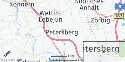 Google Map of Petersberg bei Halle