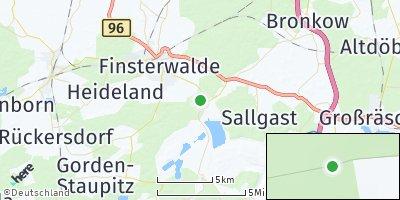 Google Map of Lichterfeld-Schacksdorf