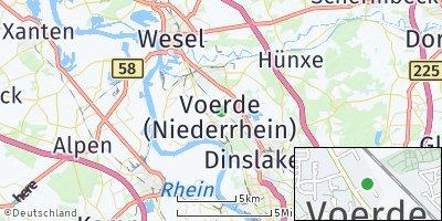 Google Map of Voerde