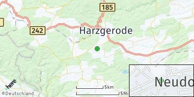 Google Map of Neudorf bei Quedlinburg