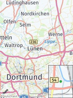Here Map of Lünen