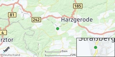 Google Map of Straßberg bei Quedlinburg