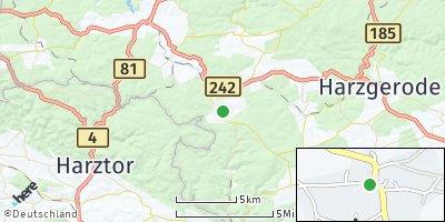 Google Map of Breitenstein bei Roßla