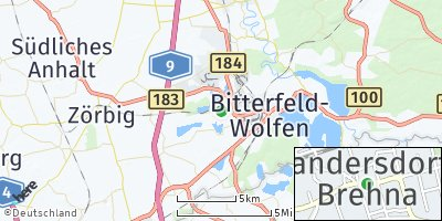 Google Map of Sandersdorf