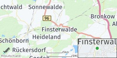 Google Map of Finsterwalde