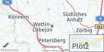 Google Map of Plötz bei Halle