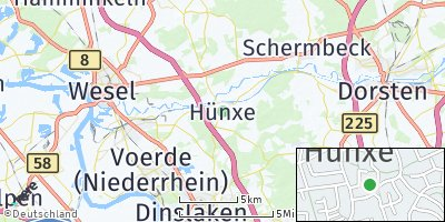 Google Map of Hünxe