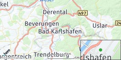 Google Map of Bad Karlshafen