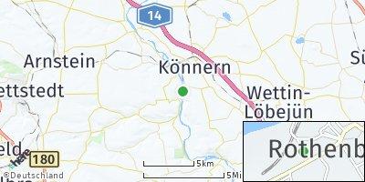 Google Map of Rothenburg bei Könnern