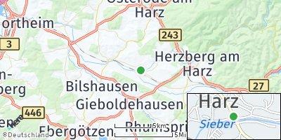 Google Map of Hattorf am Harz