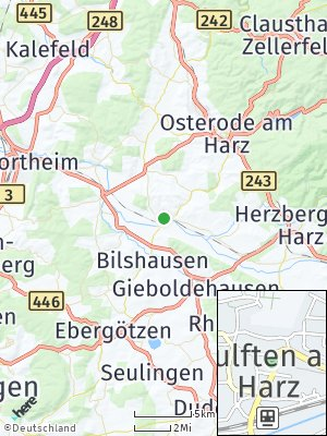 Here Map of Wulften am Harz