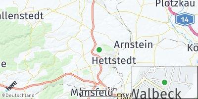 Google Map of Walbeck bei Hettstedt