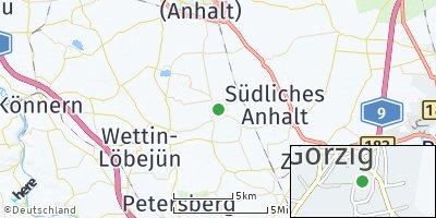 Google Map of Görzig bei Köthen