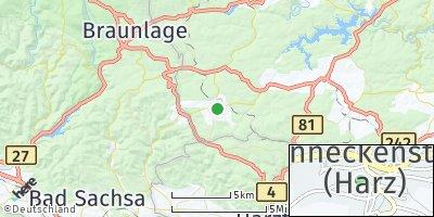 Google Map of Benneckenstein