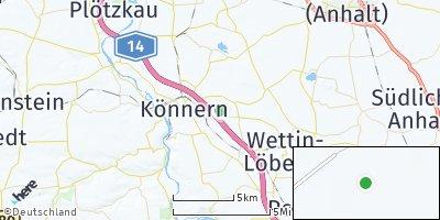 Google Map of Edlau bei Könnern