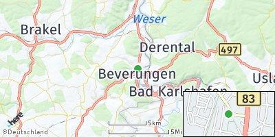 Google Map of Beverungen