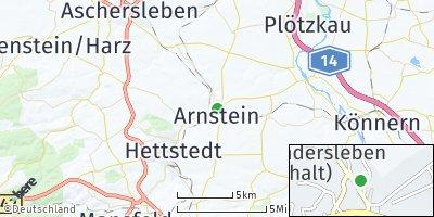 Google Map of Sandersleben