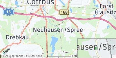 Google Map of Neuhausen / Spree