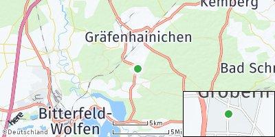 Google Map of Gröbern bei Bitterfeld