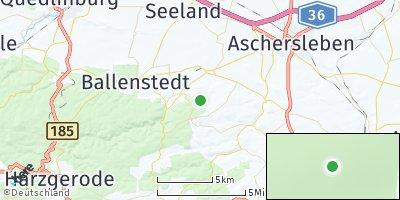 Google Map of Falkenstein / Harz
