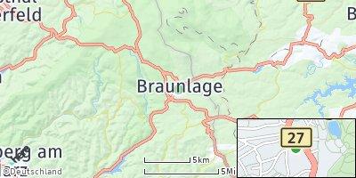 Google Map of Braunlage