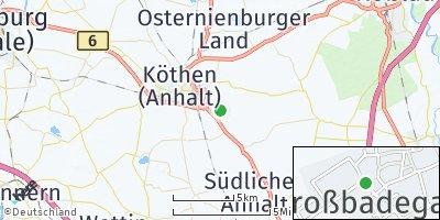 Google Map of Großbadegast