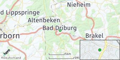 Google Map of Bad Driburg