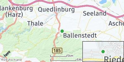 Google Map of Rieder bei Quedlinburg