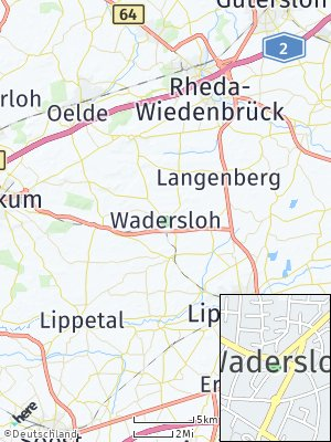 Here Map of Wadersloh