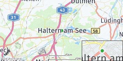 Google Map of Haltern am See