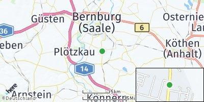 Google Map of Peißen bei Bernburg