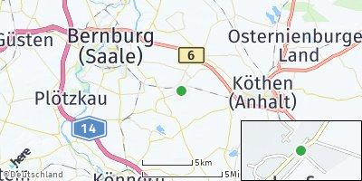 Google Map of Biendorf bei Bernburg
