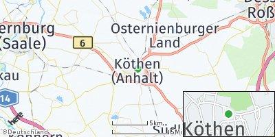 Google Map of Köthen
