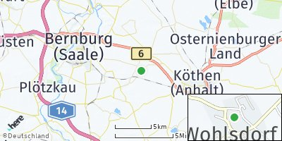 Google Map of Wohlsdorf bei Bernburg