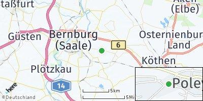 Google Map of Poley bei Bernburg