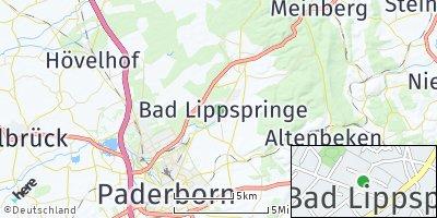 Google Map of Bad Lippspringe