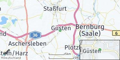 Google Map of Güsten
