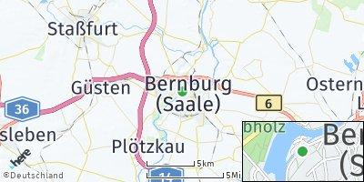 Google Map of Bernburg
